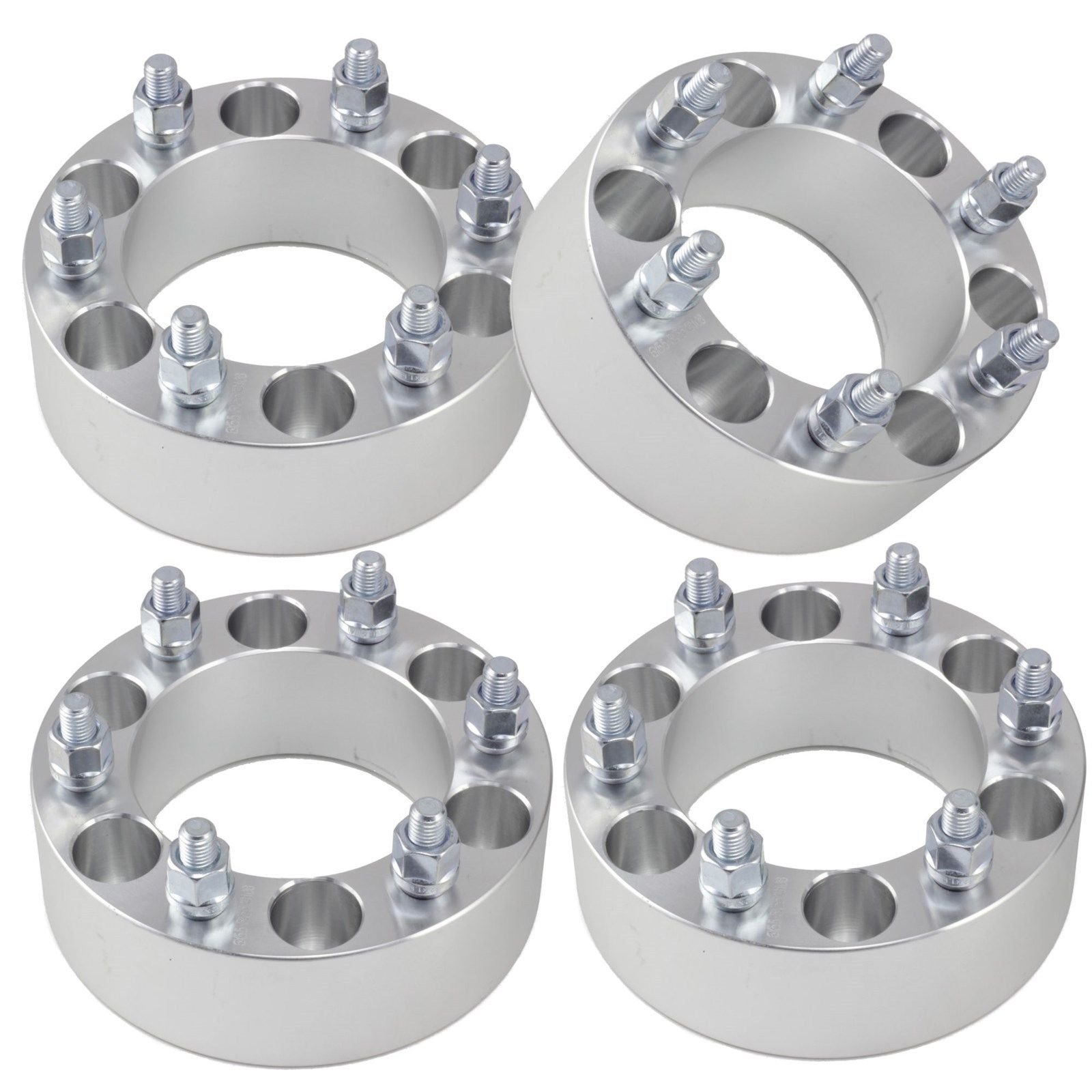 For GMC SIERRA C3 2001 / 4 PC Wheel Spacers 2'' Adapters 6x5.5 6 Lug Bolt 6x139.7 NEW