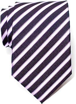 Corbata tejida a rayas de dos colores para hombres: Amazon.es ...