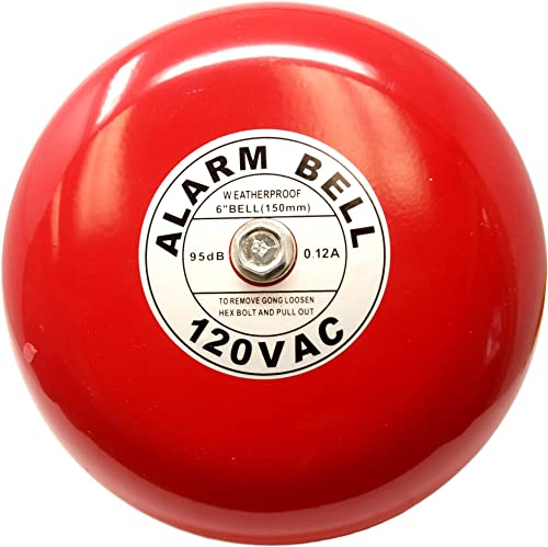 Fire Alarm Bell, 6 , 120 VAC, Security Bell 120 Volt AC