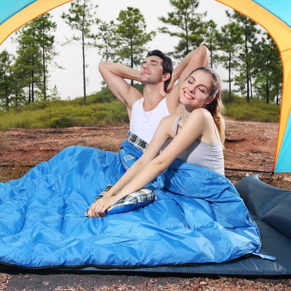 CAMEL CROWN Saco de Dormir Algod/ón Port/átil con Almohada Saco de Compresi/ón al Aire Libre 4 Estaciones para Acampar,Viajes,Camping,Senderismo,Mochilero,Escalada