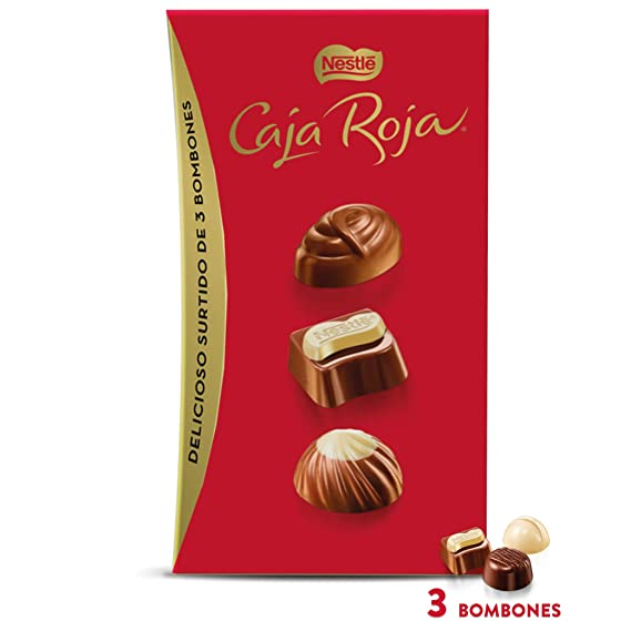 Nestlé Caja Roja Bombones de Chocolate - Estuche de bombones ...