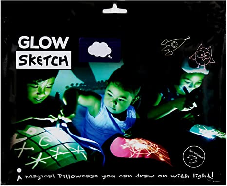 3 Designs Glow Sketch Pillow Case Draw