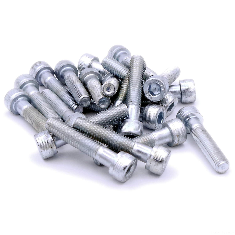 M8 (8mm x 50mm) Hex Socket Head Cap Screw Bolts - Steel (Pack of 10) Singularity Supplies Ltd