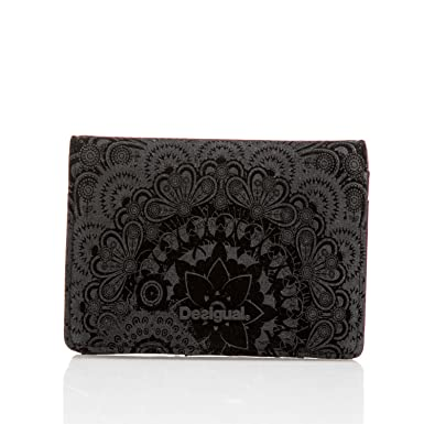 Porte Monnaie Desigual Simple Velvet Yg Noir Amazonfr - Porte monnaie desigual