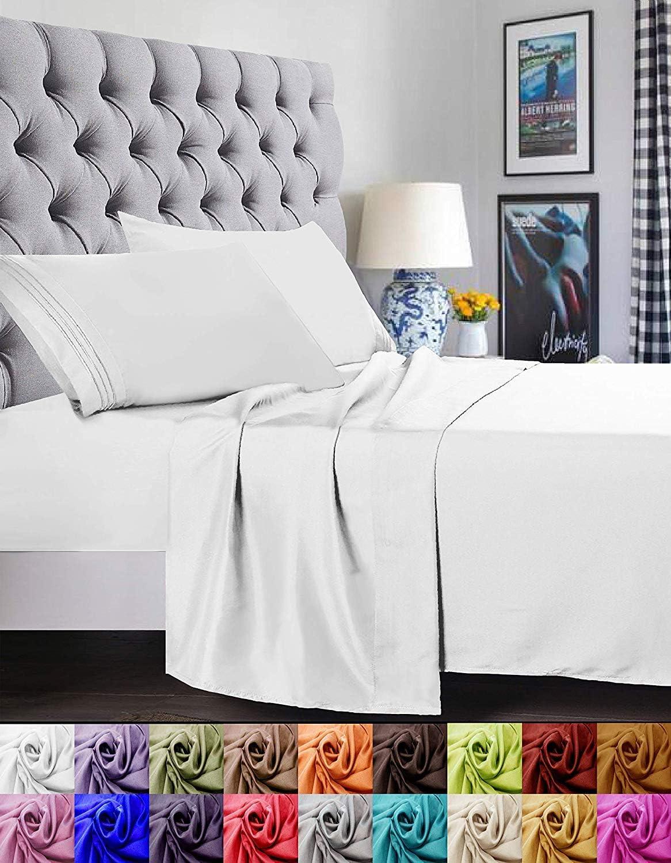 Elegant Comfort - Juego de sábanas de 4 Piezas, 1500 Hilos, Suave ...