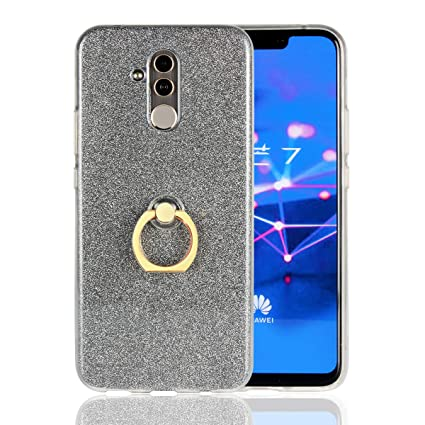 Amazon.com: for Huawei Mate 20 Lite Glitter Case with Ring ...