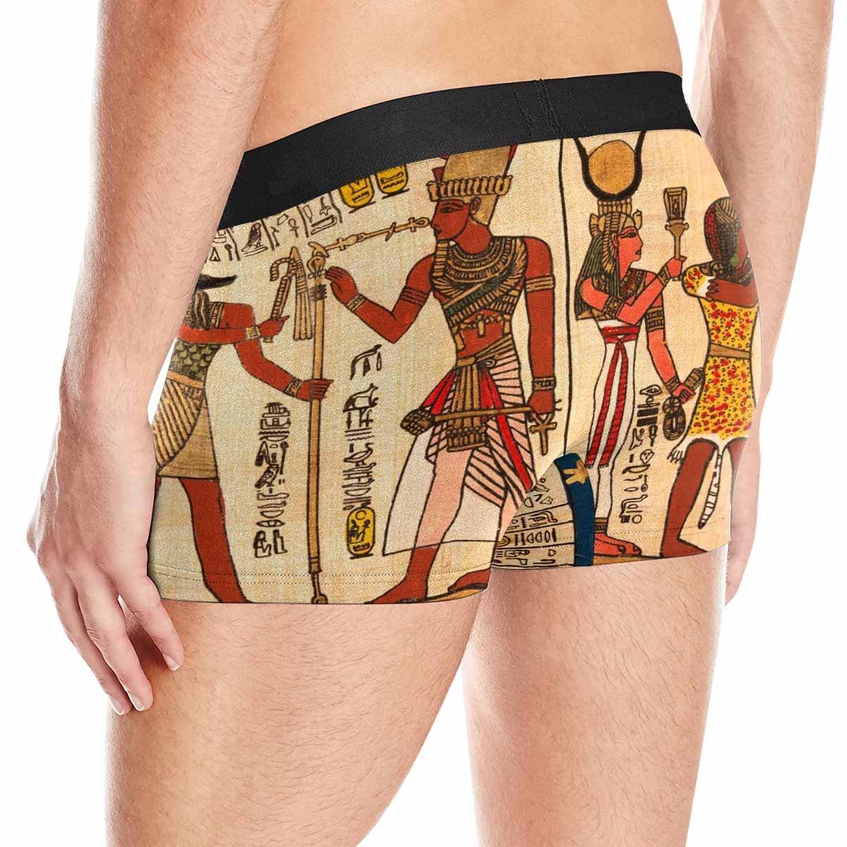 XS-3XL INTERESTPRINT Boxer Briefs Mens Underwear Egyptian Papyrus with Antique Hieroglyphs