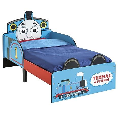 143 x 77 x 42.5 cm Hello Home 505THK Il Trenino Thomas Lettino per Bambini Legno Blue