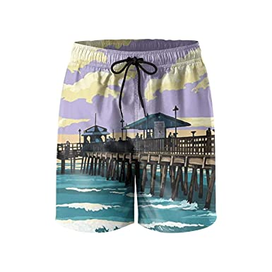 60021d3577 Image Unavailable. Image not available for. Color: UTYHR California  Republic Bear Poster Mens Swimming Shorts Retro Swim ...