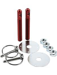"Allstar Performance ALL18501 Red 1/2"" Aluminum Hood Pin Kit"