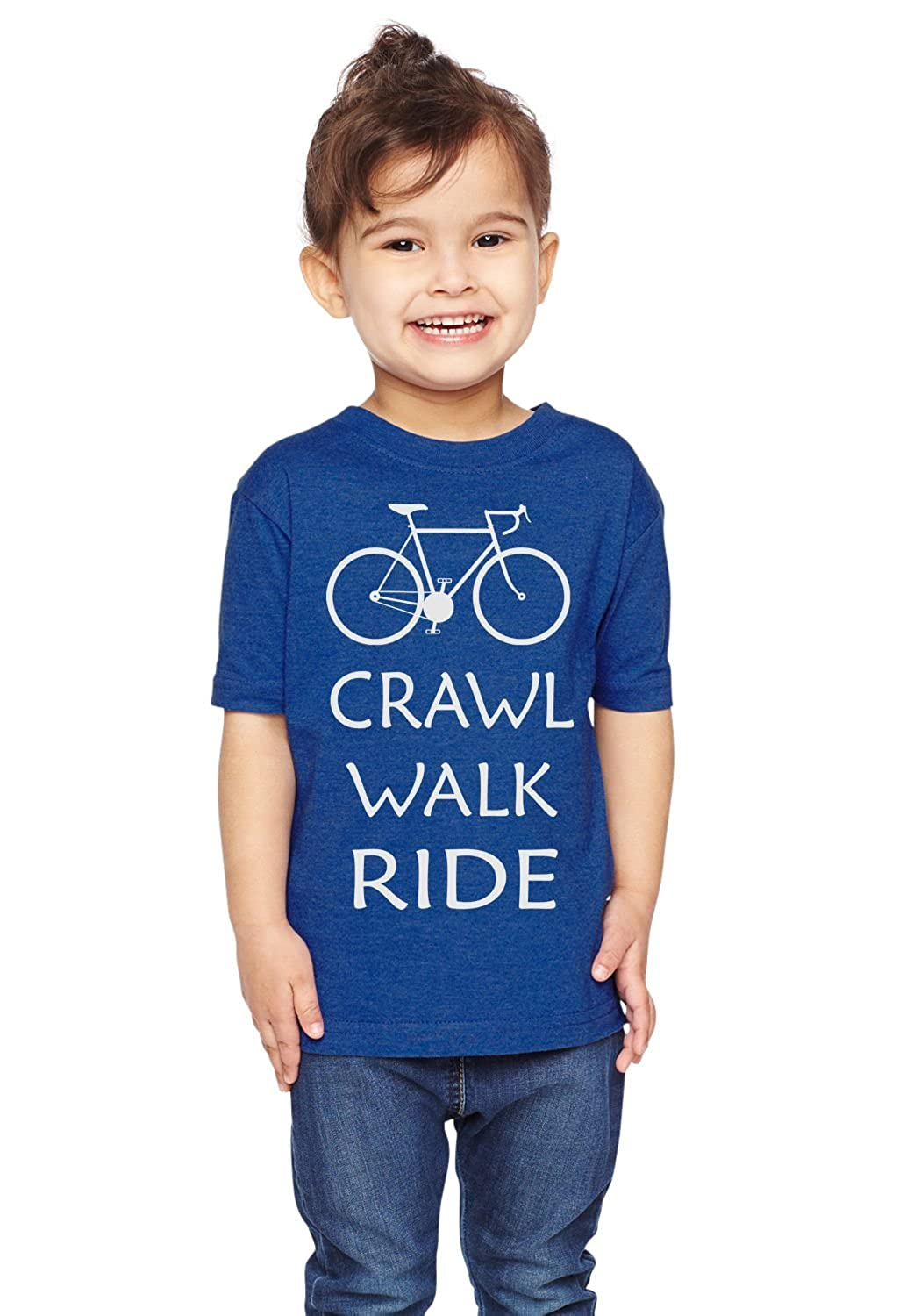 Brain Juice Tees Crawl Walk Ride Unisex Toddler Bike Shirt