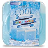 RINBOTTLE Ice Packs for Lunch Box Slim Reusable Freezer Dry Ice Pack for Coolers Keep Cold and Fresh for Outdoor Camping…
