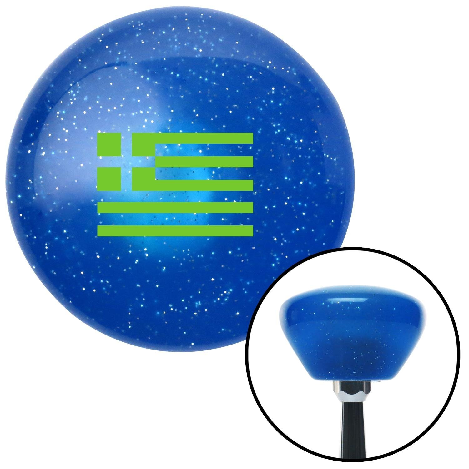 Green Greece American Shifter 191597 Blue Retro Metal Flake Shift Knob with M16 x 1.5 Insert