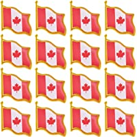 Rhungift Proudly Canada Flag Pin Jewelry Quality Gold Enamel Canadian National Lapel Pins