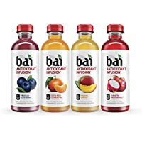 12-Pack Bai 18oz Antioxidant Infused Flavored Water Drink (Rainforest Variety Pack,18 fl. oz. bottles)