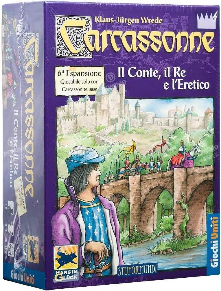 Giochi Uniti Carcassonne Il Conte, il Re e LEretico - Expansión para Juego: No Name: Amazon.es: Juguetes y juegos