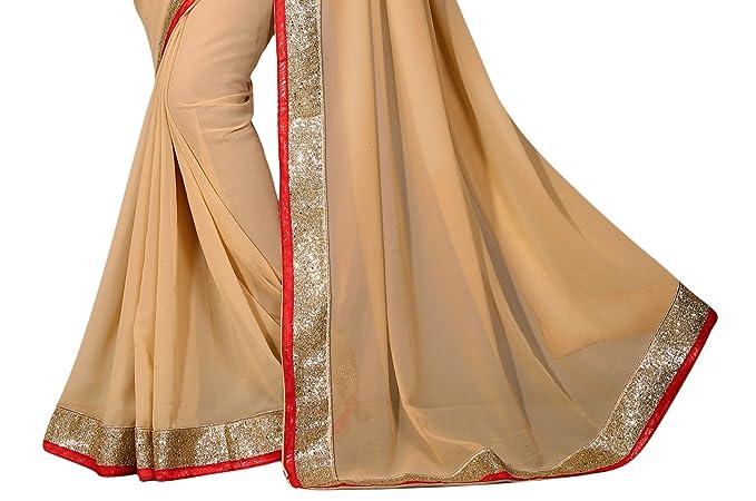 Frontera elegante de oro de la lentejuela de Bollywood Sari étnico diseñador del vestido de fiesta de la India: Amazon.es: Ropa y accesorios