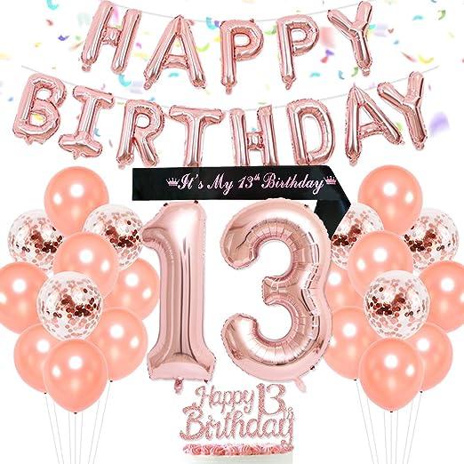 Decoraciones para la fiesta de cumpleaños número 13 Dulce de ...