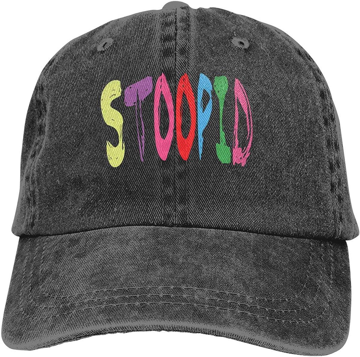 Stoopid Rainbow Adjustable Baseball Hat for Mens Caps
