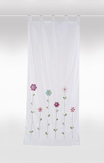 bambiente Kinderzimmer Vorhang Gardine 'Blumenwiese' 105x240cm mit