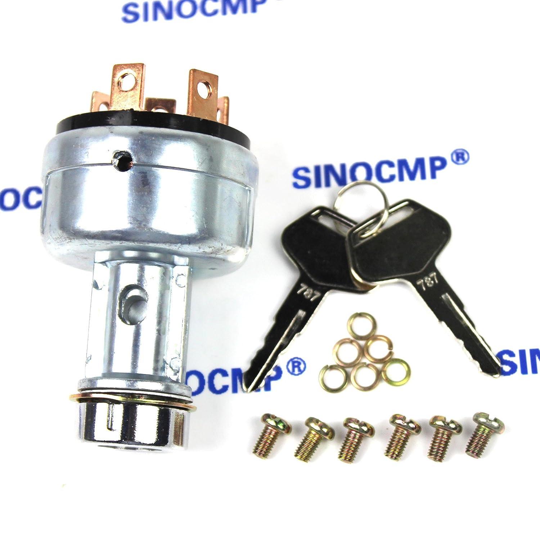 sinocmp Bagger Starter Motor Schalter 08086 5 10000/F/ür Komatsu PC200