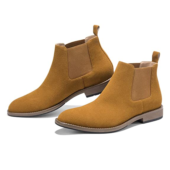 Amazon.com | GM GOLAIMAN Mens Chelsea Boots Slip On - Dress Boot Fashion Work Office Prom Wedding Gifts Botas Invierno Hombre | Chelsea