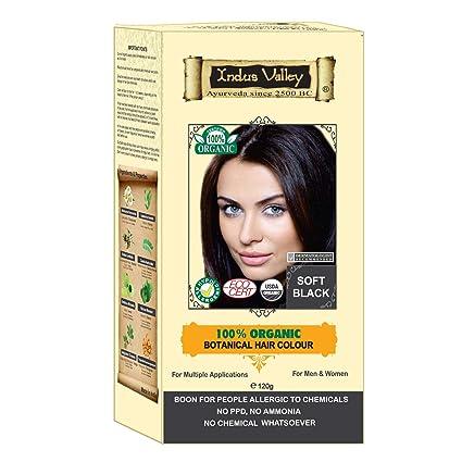 Buy Indus valley 100% Botanical Soft Black hair colour 100 ...