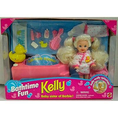 Barbie KELLY Bathtime Fun Set - Kelly Really Splashes! (1995): Toys & Games
