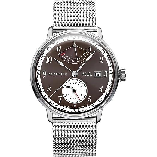 Zeppelin Reloj Analogico para Unisex de automático con Correa en Chapado en Acero Inoxidable 7060M5: Amazon.es: Relojes