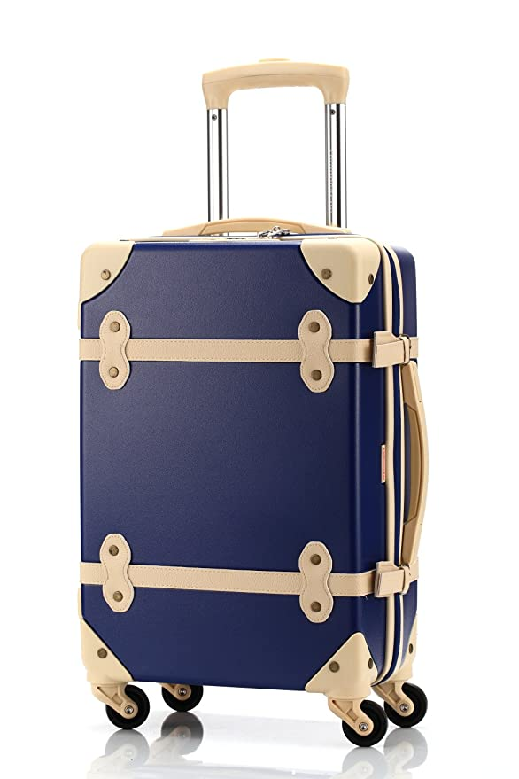 Amazon.com: Ambassador Equipaje Estilo Antiguo 20 inch Carry ...