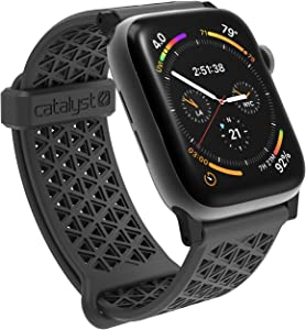 Designed for Apple Watch Series SE, Series 6, Series 5/4 Impact Case 44mm 42mm, Double Locking Edition, Sport Band Rugged Protective Case, Drop Proof Designed for Apple Watch Case, Slate Gray