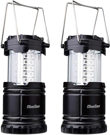 Faroles Port/átiles LED L/ámpara Exterior Plegable Impermeable para Camping,Luz de Emergencia,Pesca,Senderismo,Exterior e Interior Suntop Lampara de Camping Bateria Cargada