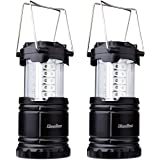 Diealles LED camping lanterns, 2 pieces, 30 LEDs, battery operated, waterproof, outdoor lamp for hiking, camping, emergency, fishing, night light, simple on/off