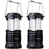 Dieailles -Lote de 2 lámparas Plegables LED, Impermeable, de Dos Piezas, superbrillante, Ideal para campin, Senderismo…