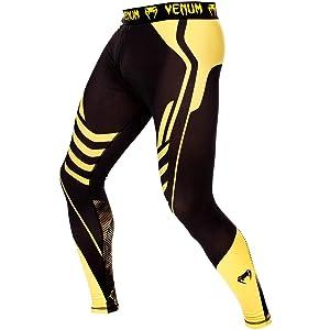 Venum Technical Spats, Black/Yellow, X-Large