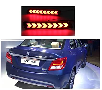 PR Car Reflector Led Brake Light For BumperRear BackArrow Design