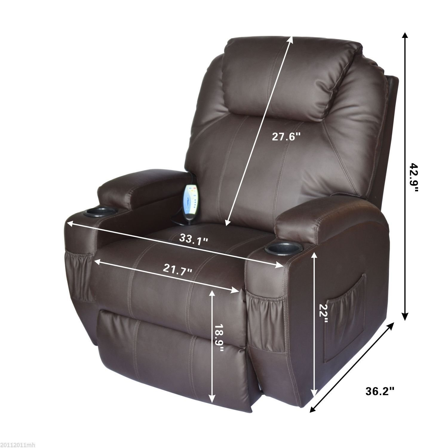 Amazon Hom Massage Heated PU Leather 360 Degree Swivel