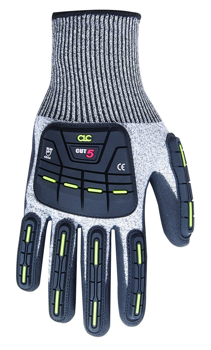 Medium 1-Pair CLC Custom Leathercraft 2115M Cut and Impact Resistant Nitrile Dipped Gloves