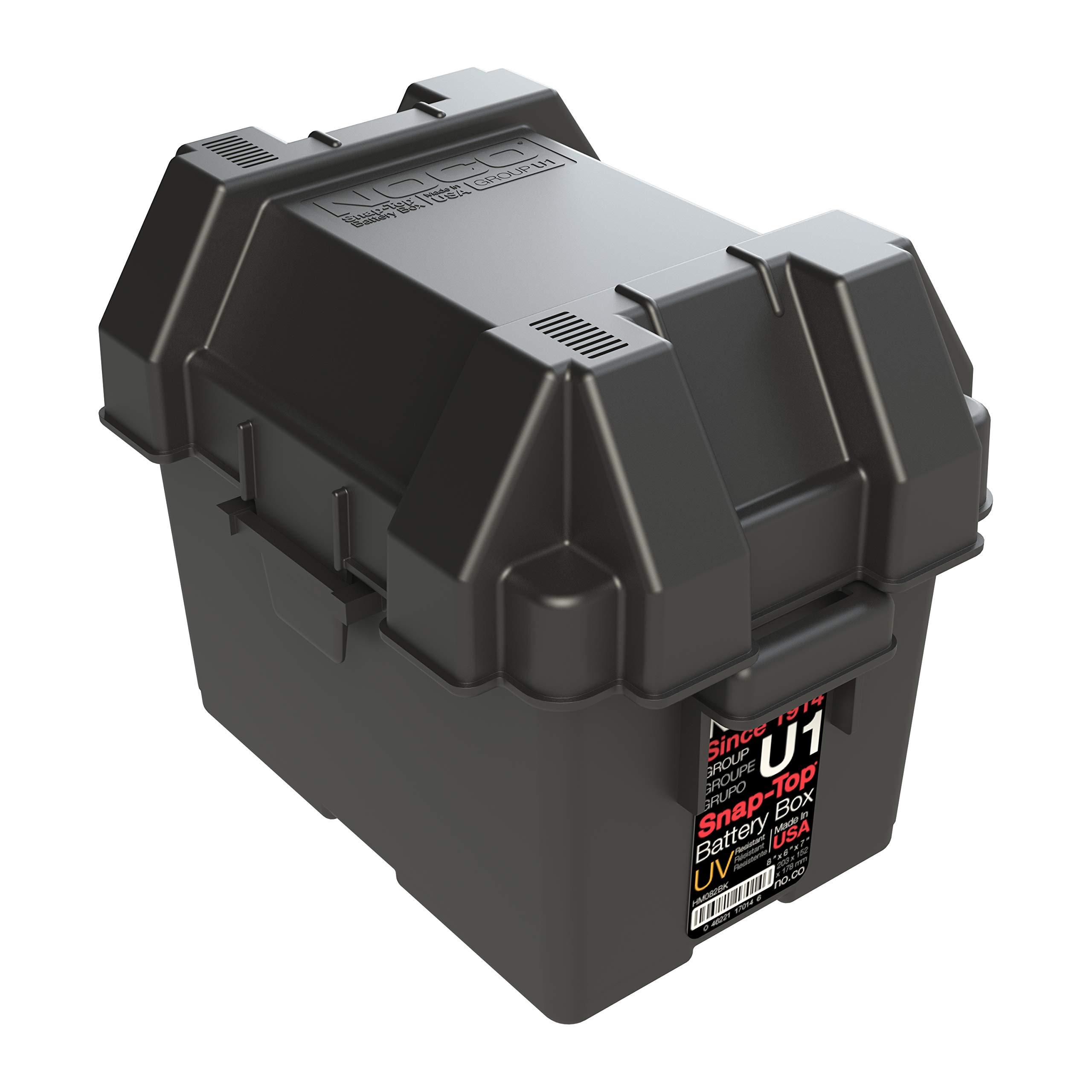 NOCO HM082BKS Group U1 Snap-Top Battery Box For Mobility And Lawn and Garden Batteries