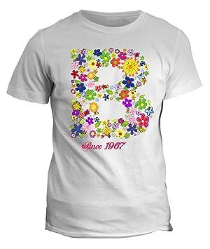 fashwork Tshirt Nombre con Inicial Flores B Since 1967 ...