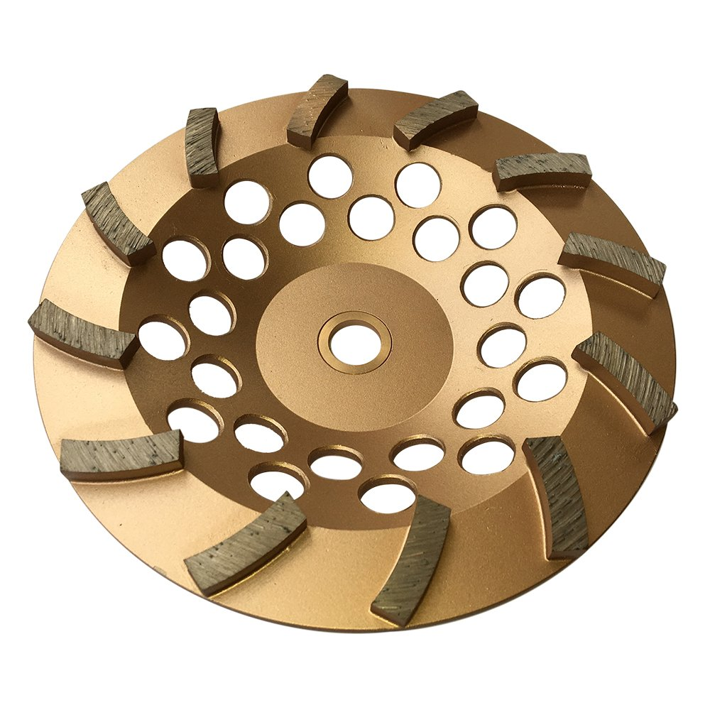 Grinding Wheels for Concrete and Masonry 7'' Diameter 12 Turbo Diamond Segments 7/8''-5/8'' Arbor by EDiamondTools (Image #1)