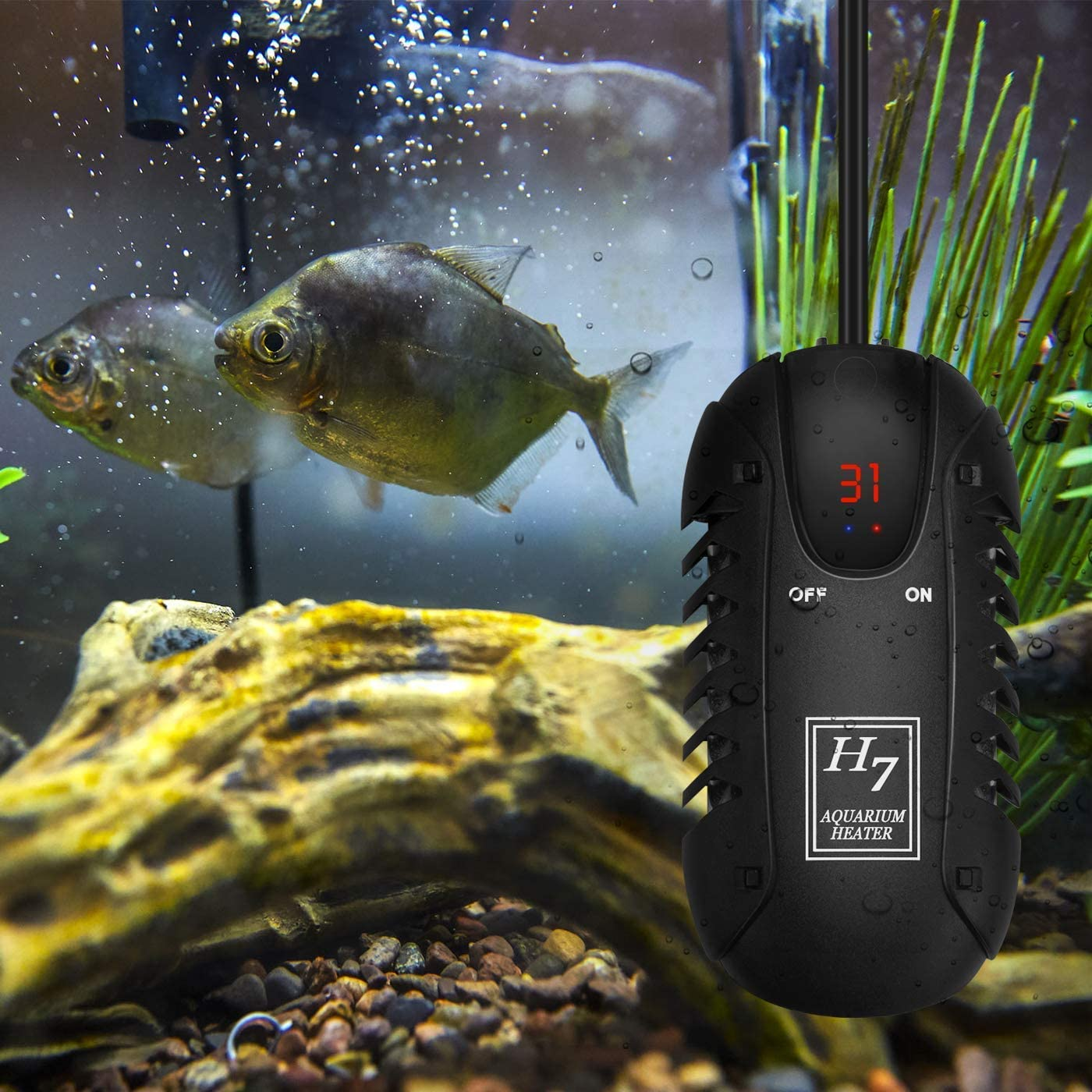 Small Aquarium Heater,Intelligent LED