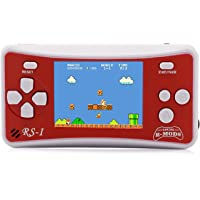 """E-WOR 2.5"""" LCD 8-Bit Retro 162x Video Games Portable Handheld Console Best Gift for Kids -RED"""