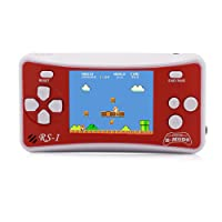 """E-WOR 2.5"""" LCD 8-Bit Retro 162x Video Games Portable Handheld Console -RED"""