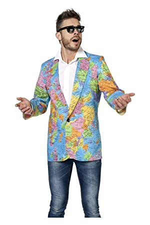 Wilbers mens 5355 jacket with world map amazon toys games wilbers mens 5355 jacket with world map gumiabroncs Images