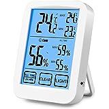 SUMGOTT Termometro digitale Igrometro Termometro wireless Igrometro Retroilluminazione LCD Registratore Max-Min Applicare in auto, casa, ufficio, cucina, camera da letto, seminterrato