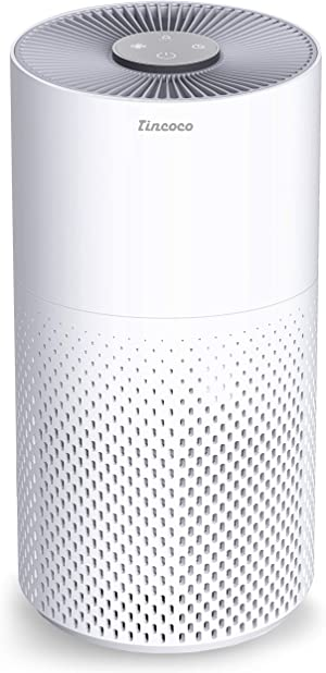 Tincoco Air Purifier for Home Allergies and Pets Hair with H11 True HEPA Filter Quiet Air Cleaner for Asthma, Smokers, Remove 99.98% of Odors, Dust, Pollen, Perfect for Bedroom - Oly3