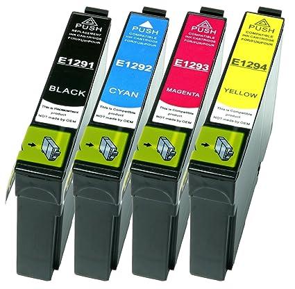 4 Cartuchos de impresora XL todos los colores Reemplazar Epson ...