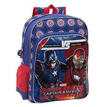 Marvel 4722351 Versus Mochila Escolar, 15.6 litros, Color Azul: Amazon.es: Equipaje