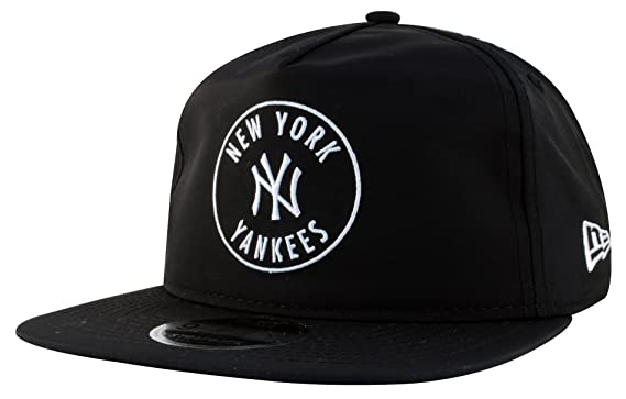 9d1abf9b747 New Era 9Fifty A-Frame Original Fit Unstructured New York Yankees MLB  Taslan Emblem Black Snapback Baseball Cap Size Medium Large  Amazon.co.uk   Clothing